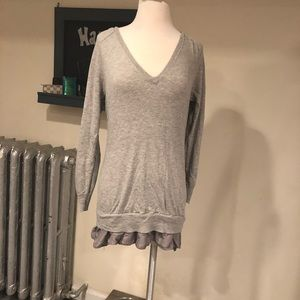 Long sweater with cute layering